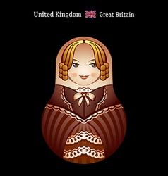 matryoshka britain vector image