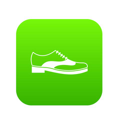 men shoe with lace icon digital green vector image