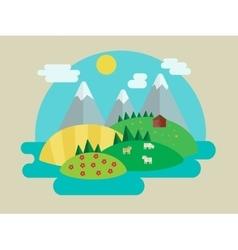 Minimalistic nature landscape vector image