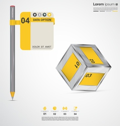 Modern infographic elements vector image