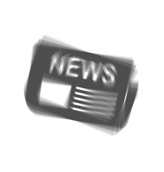 Newspaper sign gray icon shaked at white vector