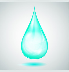 one big turquoise drop vector image