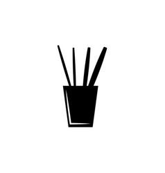 pencil case with school supplies icon vector image