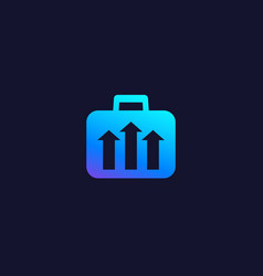 portfolio growth finance icon vector image