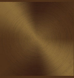 radial polished texture bronze metal background vector image
