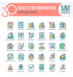 real estate innovation icons vector image