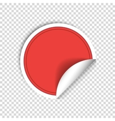 Red paper stickers on transparent background vector image