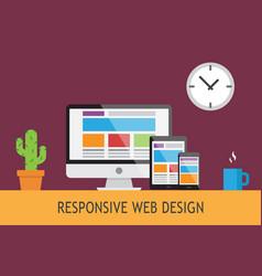 responsive web design5 vector image