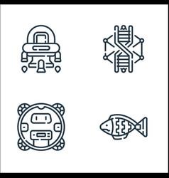Robotics line icons linear set quality line set vector