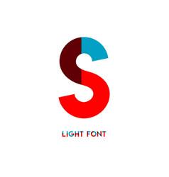 S light font template design vector