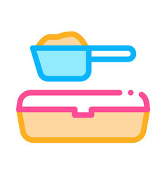 sand tray and scoop icon outline vector image