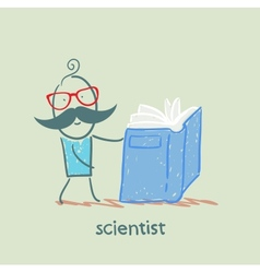 scientist reading a book vector image