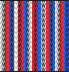seamless pattern of white blue and red stripes vector image