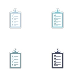 Set of paper stickers on white background form vector