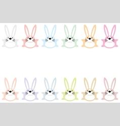 Set of twelve colorful easter bunnies vector