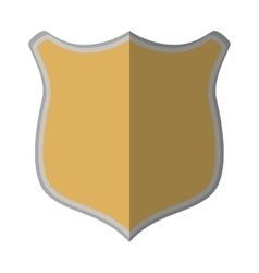 Shield protection mediavel emblem empty shadow vector
