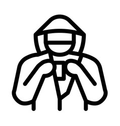 Shoplifter with goods icon outline vector