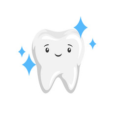 smiling clean healthy tooth vector image