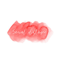 Social distance red ink icon coronavirus vector