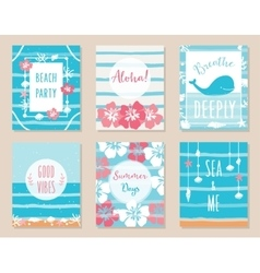Summer Ocean and Beach Posters and Cards vector image