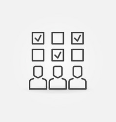 survey concept icon in thin line style vector image