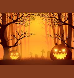 Trees in dark scary woods vector