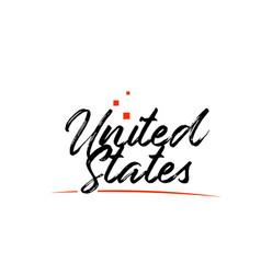 usa united states country typography word text vector image
