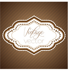 vintage label eps10 design vector image