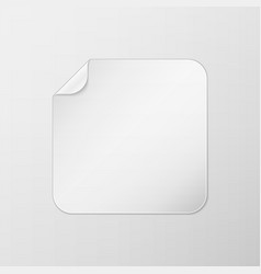 white square peel off paper sticker vector image