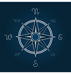 Wind rose polaris coordination compass poster vector