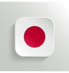 Button - Japan Flag Icon vector image