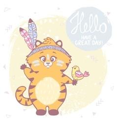 Cute kitten color vector image vector image