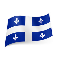 flag of quebec province of canada central white vector image vector image