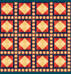 geometric pattern with grunge effect vector image vector image