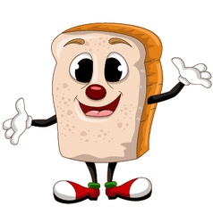 happy bread cartoon vector image