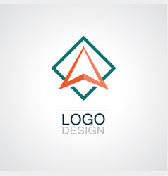 square triangle technology logo vector image