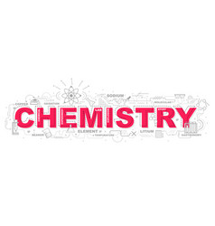 creative of chemistry with line icon vector image