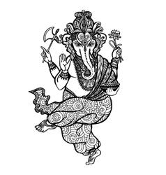 Dancing Ganesha Icon vector image vector image