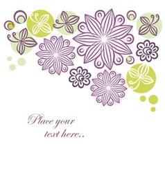 Floral retro banner vector image vector image