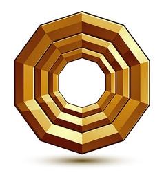 Heraldic golden template dimensional royal vector