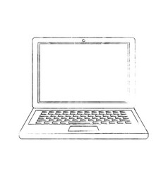 laptop pc computer vector image vector image