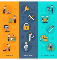 Locksmith Banners Vertical vector image vector image