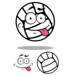 White cartoon volleyball ball vector image vector image
