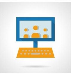 E-learning audience flat icon vector image