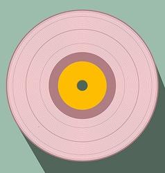 Flat Design Retro Vinyl Record vector image