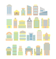 Set Business Property shopping center and hospital vector image vector image