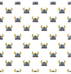 swedish viking helmet pattern seamless vector image vector image