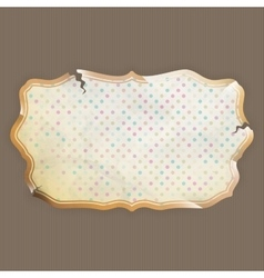 Vintage frame with place for text EPS 10 vector image vector image