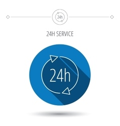24 hours icon Customer service sign vector image