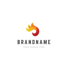 Abstract creative logo 3d fire flame shapes vector image vector image